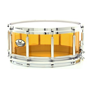Pearl Crystal Beat 14x5 Acrylic Free Floating Snare Drum, Tangerine
