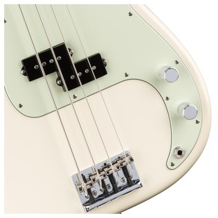 Fender American Pro Precision Bass Guitar, White