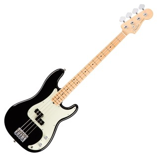 Fender American Pro Precision Bass Guitar MN, Black