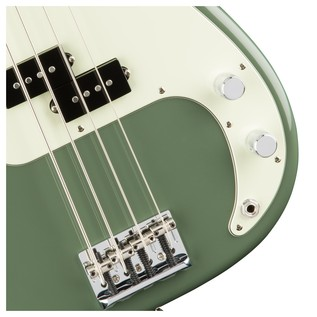 Fender American Pro Precision Bass Guitar, Antique Olive