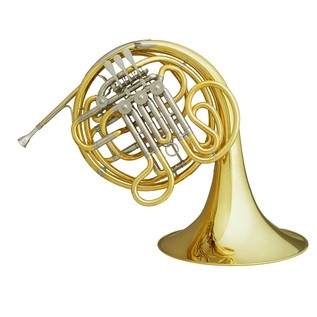 Hans Hoyer 7801 Double French Horn, Gold Lacquer, Detachable Bell