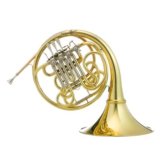 Hans Hoyer G10 Double French Horn, Gold Lacquer