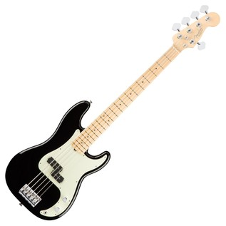 Fender American Pro Precision V Bass Guitar MN, Black