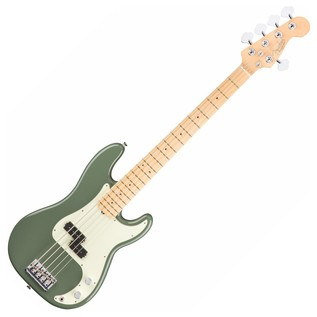 Fender American Pro Precision V Bass Guitar MN, Antique Olive