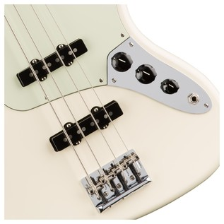 Fender American Pro Jazz Bass Guitar, Olympic White