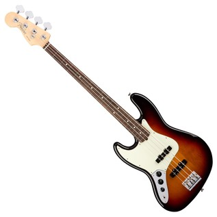 Fender American Pro Jazz Left Handed Bass Guitar RW, 3-Tone Sunburst