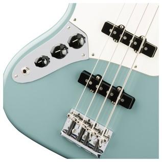 Fender American Pro Jazz Left Handed Bass Guitar, Sonic Grey