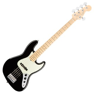 Fender American Pro Jazz V Bass Guitar MN, Black