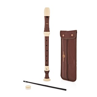 Treble Recorder with Wood Grain Finish, Cleaning Rod and Case