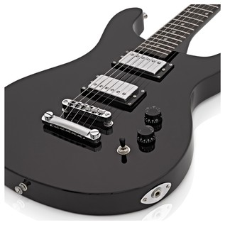 Pasadena Electric Guitar by Gear4music + Complete Pack, Black