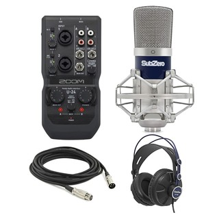 Zoom U-24 Recording Bundle