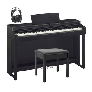 Yamaha CLP525 Clavinova Digital Piano Package, Black Walnut