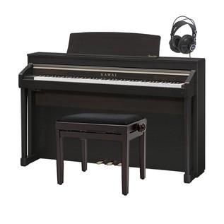 Kawai Concert Artist CA97 Digital Hybrid Piano Pack, Premium Rosewood