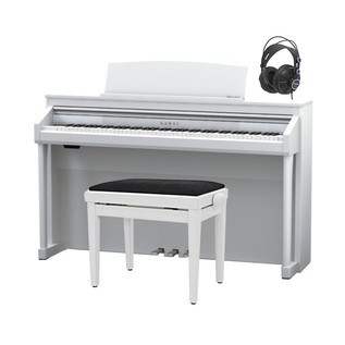 Kawai Concert Artist CA97 Digital Hybrid Piano Pack, Satin White