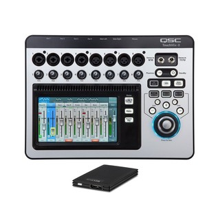 QSC TouchMix 8 Compact Digital Mixer with TrekStor DataStation Picco SSD