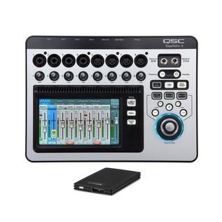 QSC TouchMix 8 Compact Digital Mixer with TrekStor DataStation Picco SSD