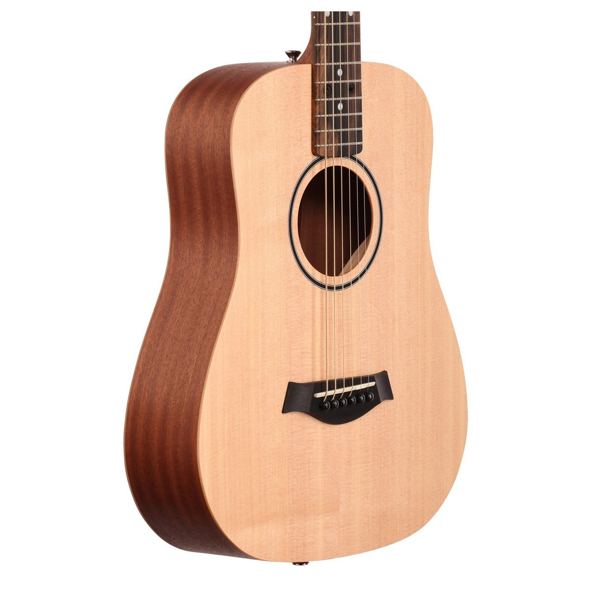 taylor baby acoustic travel guitar spruce top box opened at. Black Bedroom Furniture Sets. Home Design Ideas