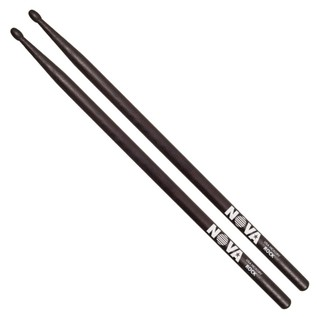 Vic Firth NOVA ROCK Hickory Drumstick, Black Finish