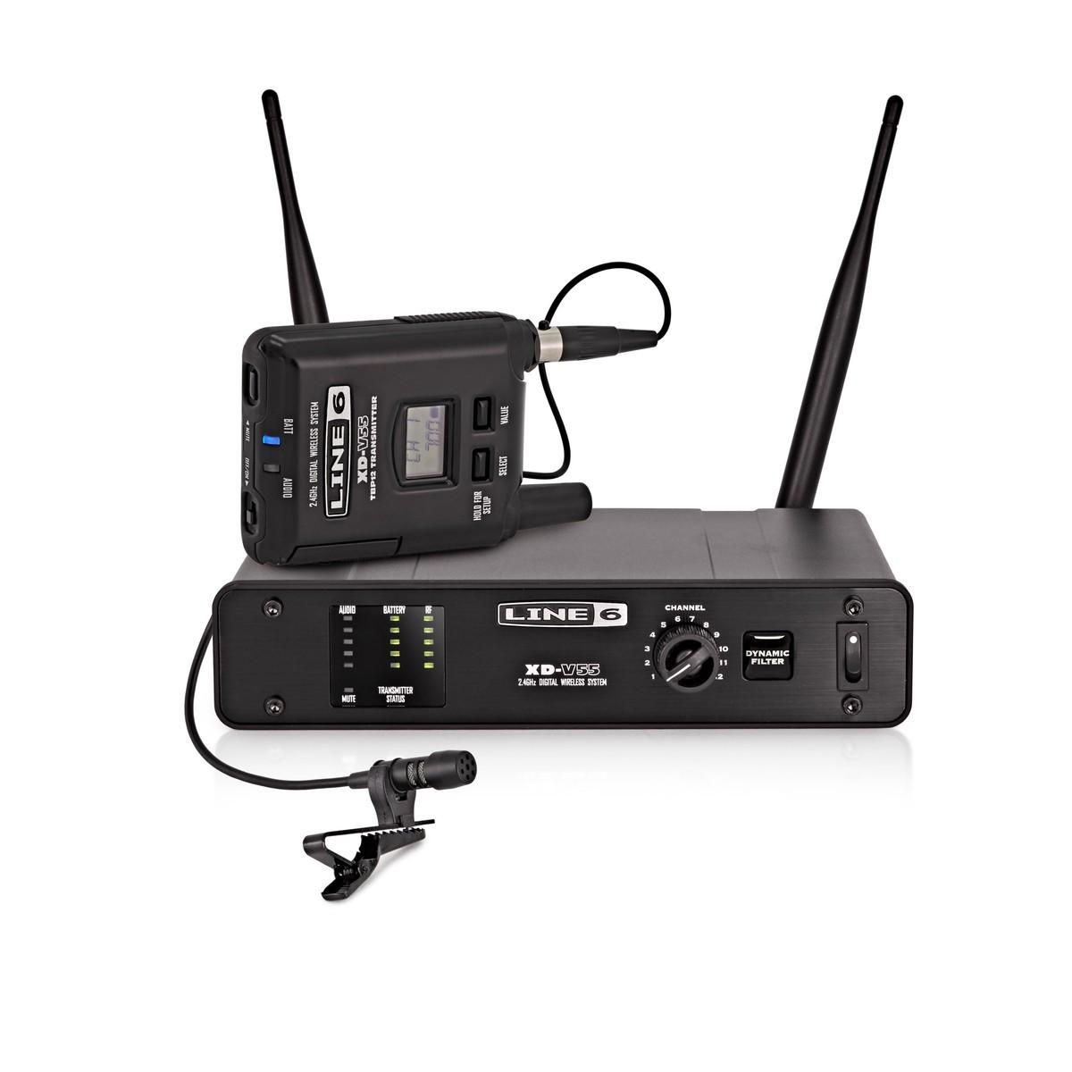 line 6 xd v55l digital wireless lavalier microphone system at. Black Bedroom Furniture Sets. Home Design Ideas