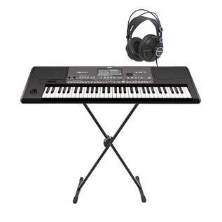 Korg PA600 Arranger Keyboard with Headphones & Free Stand
