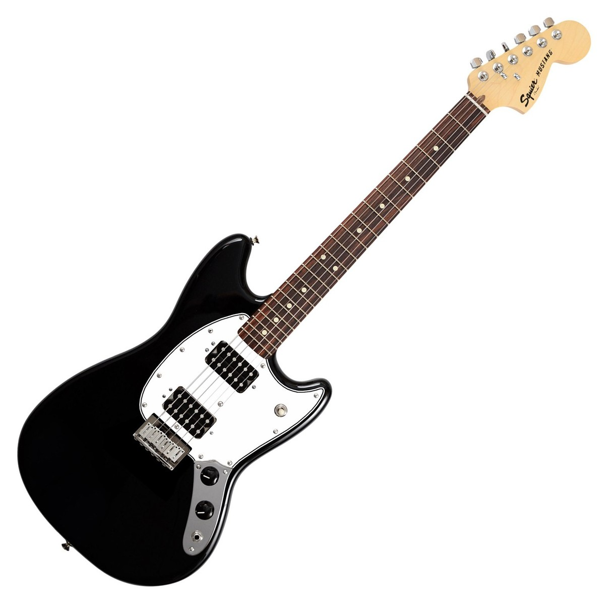 squier by fender bullet mustang hh electric guitar black at. Black Bedroom Furniture Sets. Home Design Ideas