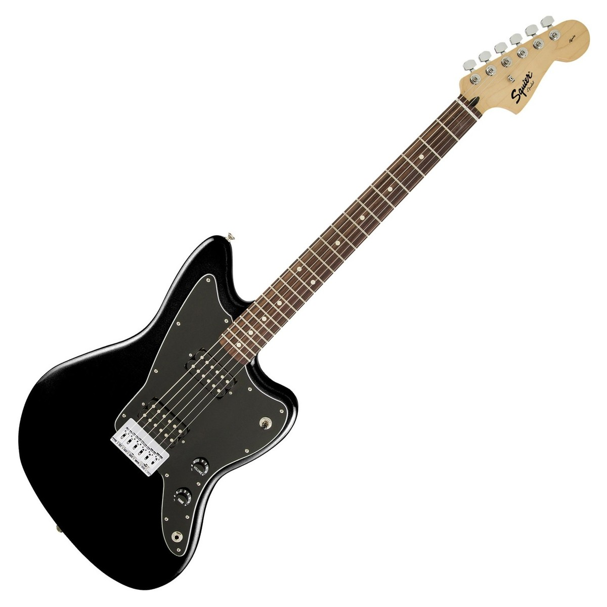 squier by fender affinity jazzmaster hh electric guitar black at. Black Bedroom Furniture Sets. Home Design Ideas