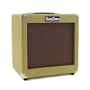 Seattle Electric Guitar and SubZero V35RG Guitar Amp Pack, Surf Green