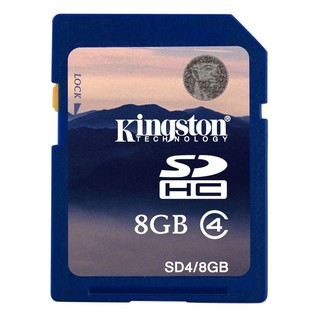 8Gb Kingston SDHC Class 4 Card