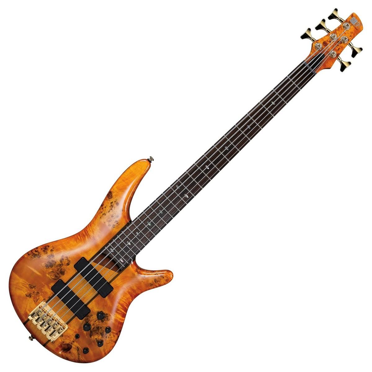 ibanez sr805 5 string bass guitar amber at. Black Bedroom Furniture Sets. Home Design Ideas