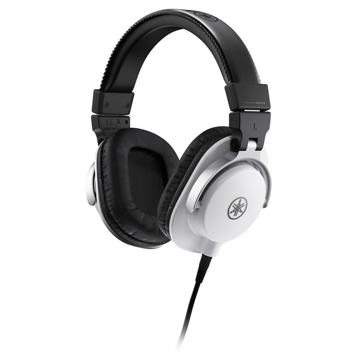 yamaha hph mt5 studio monitor headphones white at. Black Bedroom Furniture Sets. Home Design Ideas