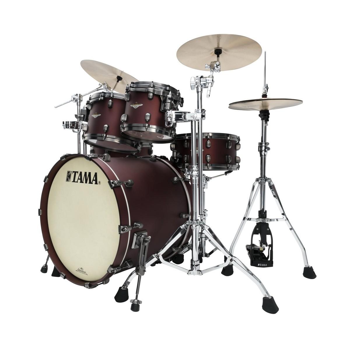 tama starclassic bubinga 22 4pc shell pack flat burgundy metallic at. Black Bedroom Furniture Sets. Home Design Ideas