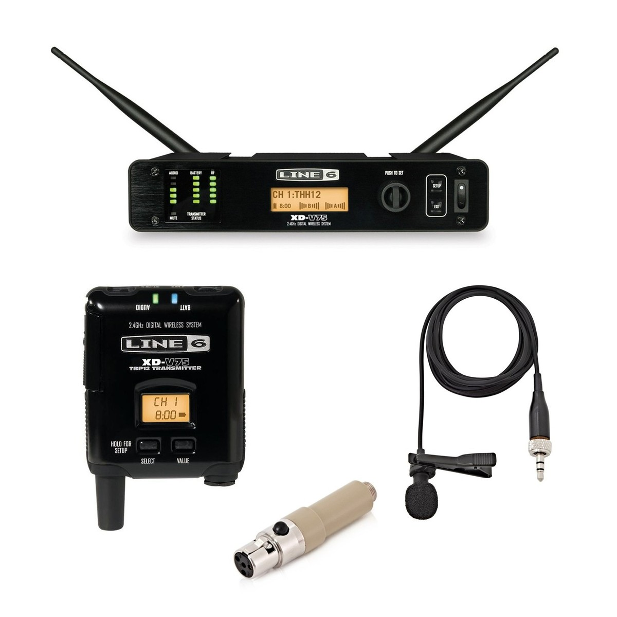 line 6 v75 wireless lavalier mic system at. Black Bedroom Furniture Sets. Home Design Ideas