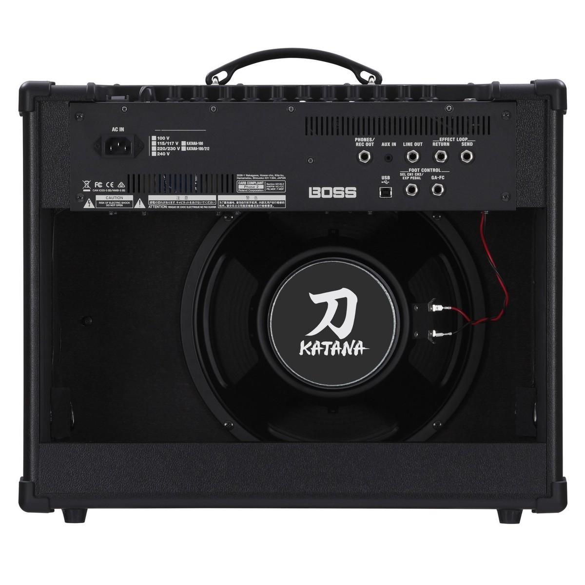 boss katana 100 combo guitar amplifier box opened at. Black Bedroom Furniture Sets. Home Design Ideas
