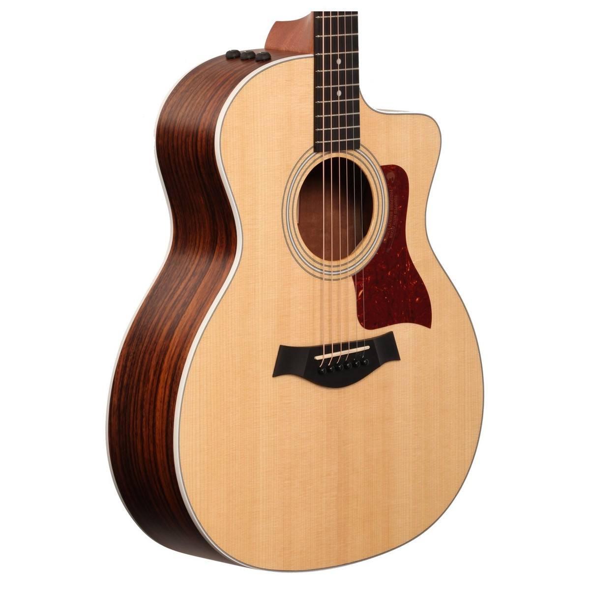 taylor 214ce grand auditorium electro acoustic guitar natural box opened at. Black Bedroom Furniture Sets. Home Design Ideas