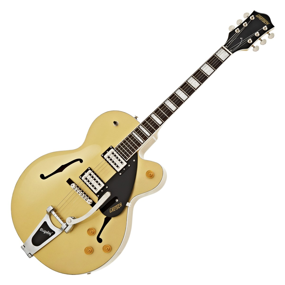 gretsch g2420t streamliner hollow body guitar with bigsby golddust at. Black Bedroom Furniture Sets. Home Design Ideas
