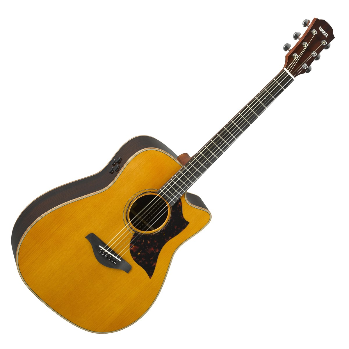 Yamaha a3r rosewood electro acoustic guitar vintage for Where are yamaha guitars made