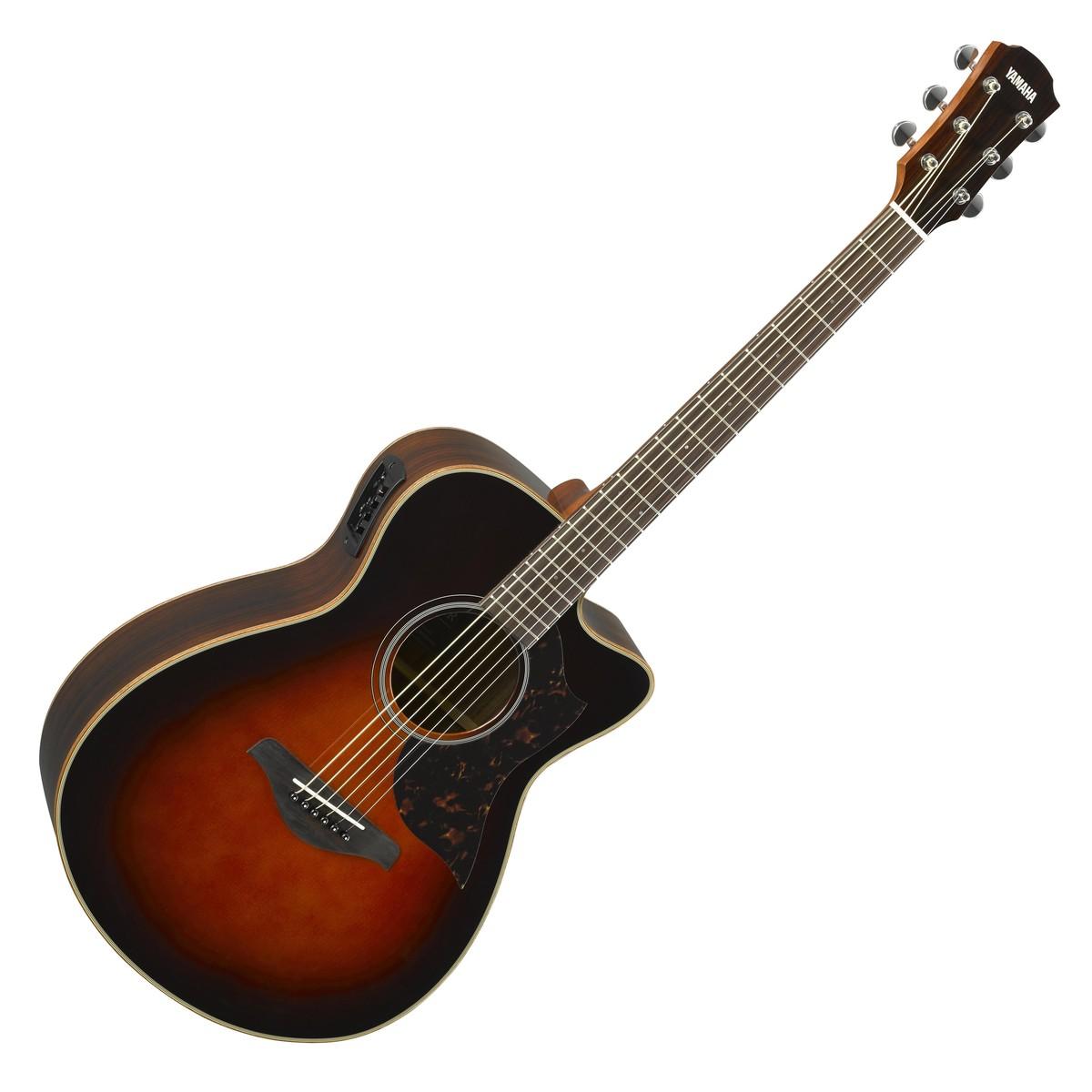 Yamaha ac1r rosewood electro acoustic guitar tobacco for Acoustic yamaha guitar