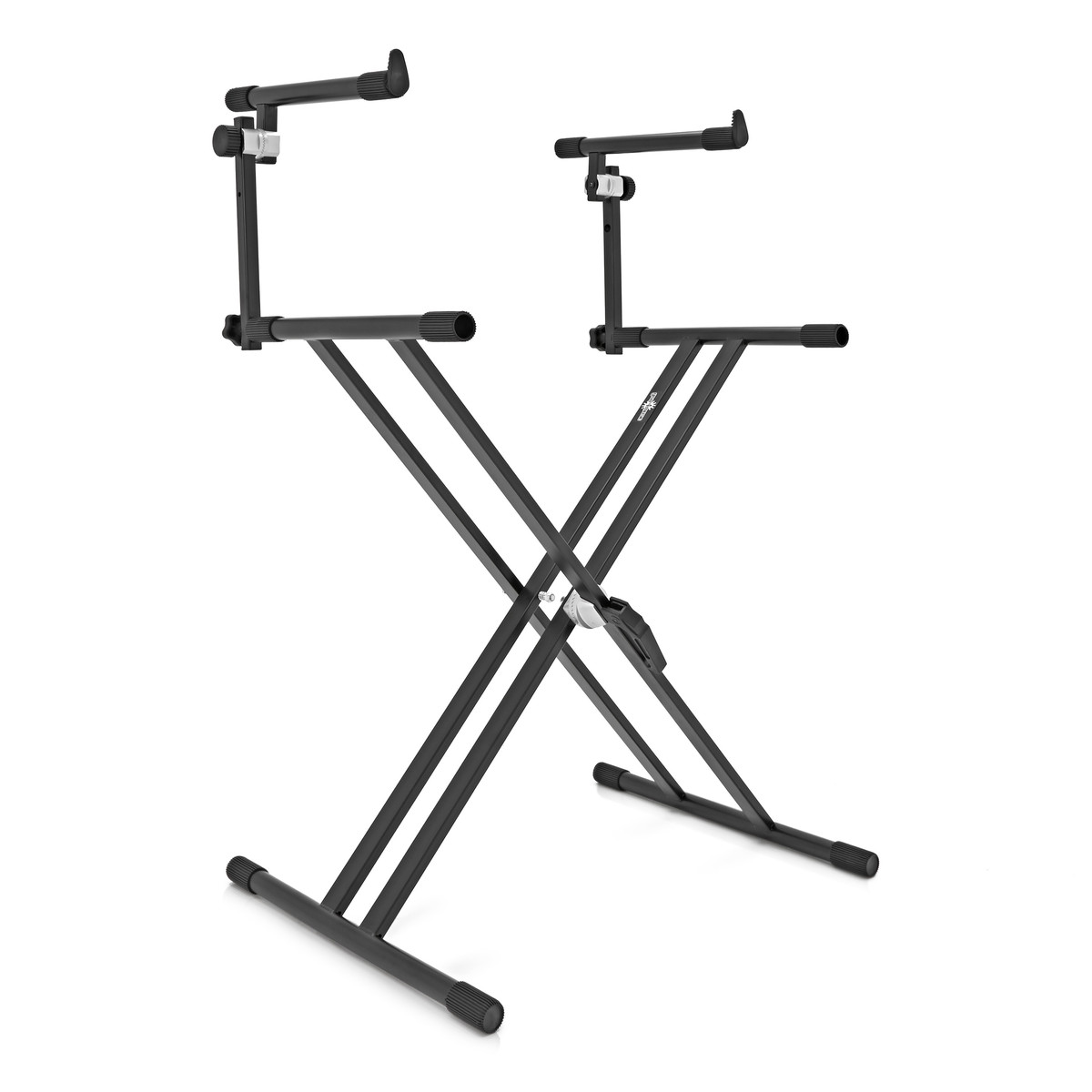 x frame keyboard stand by gear4music 2 tier box opened at. Black Bedroom Furniture Sets. Home Design Ideas