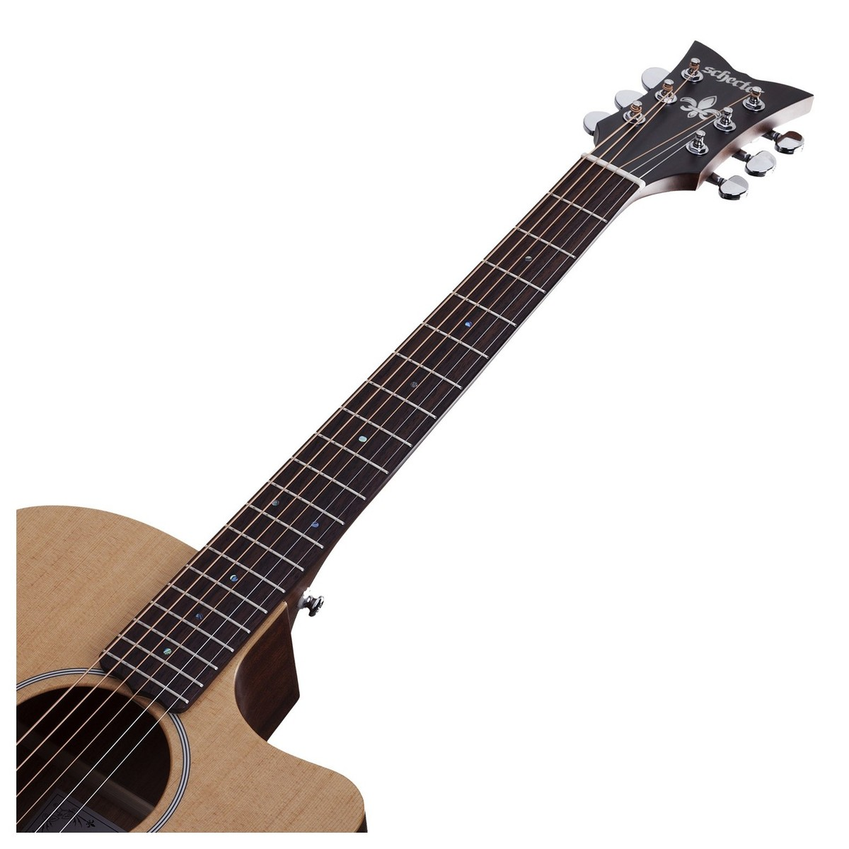 schecter deluxe acoustic guitar natural satin at. Black Bedroom Furniture Sets. Home Design Ideas