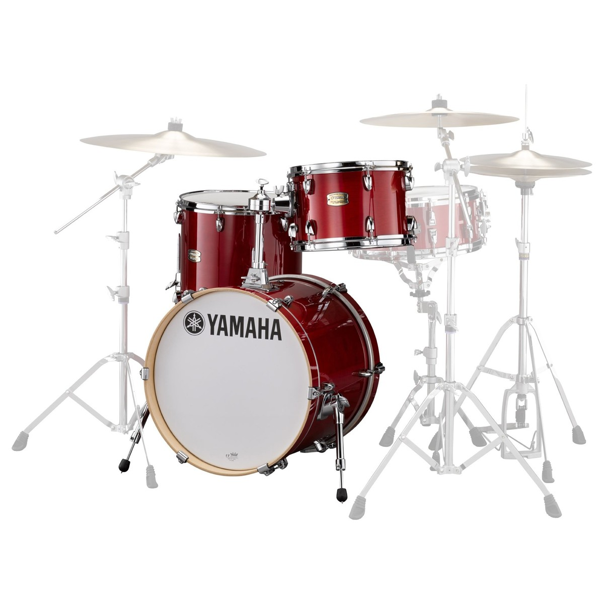 yamaha stage custom bop 3 pc shell pack cranberry at