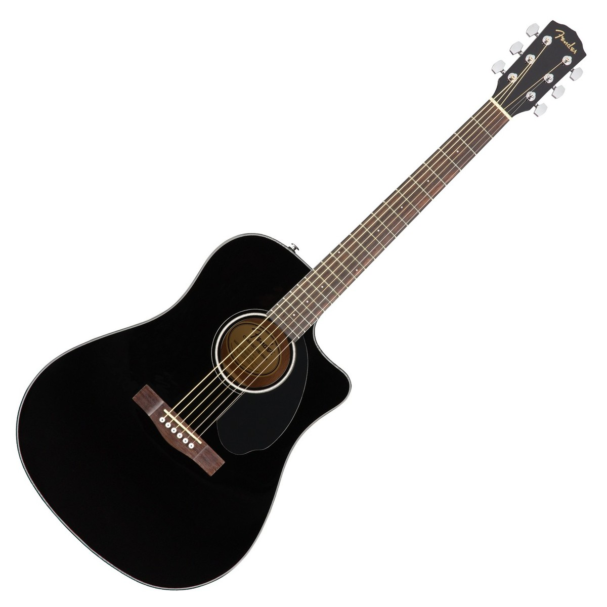 Fender CD-60SCE Dreadnought Electro Acoustic Guitar, Black ...