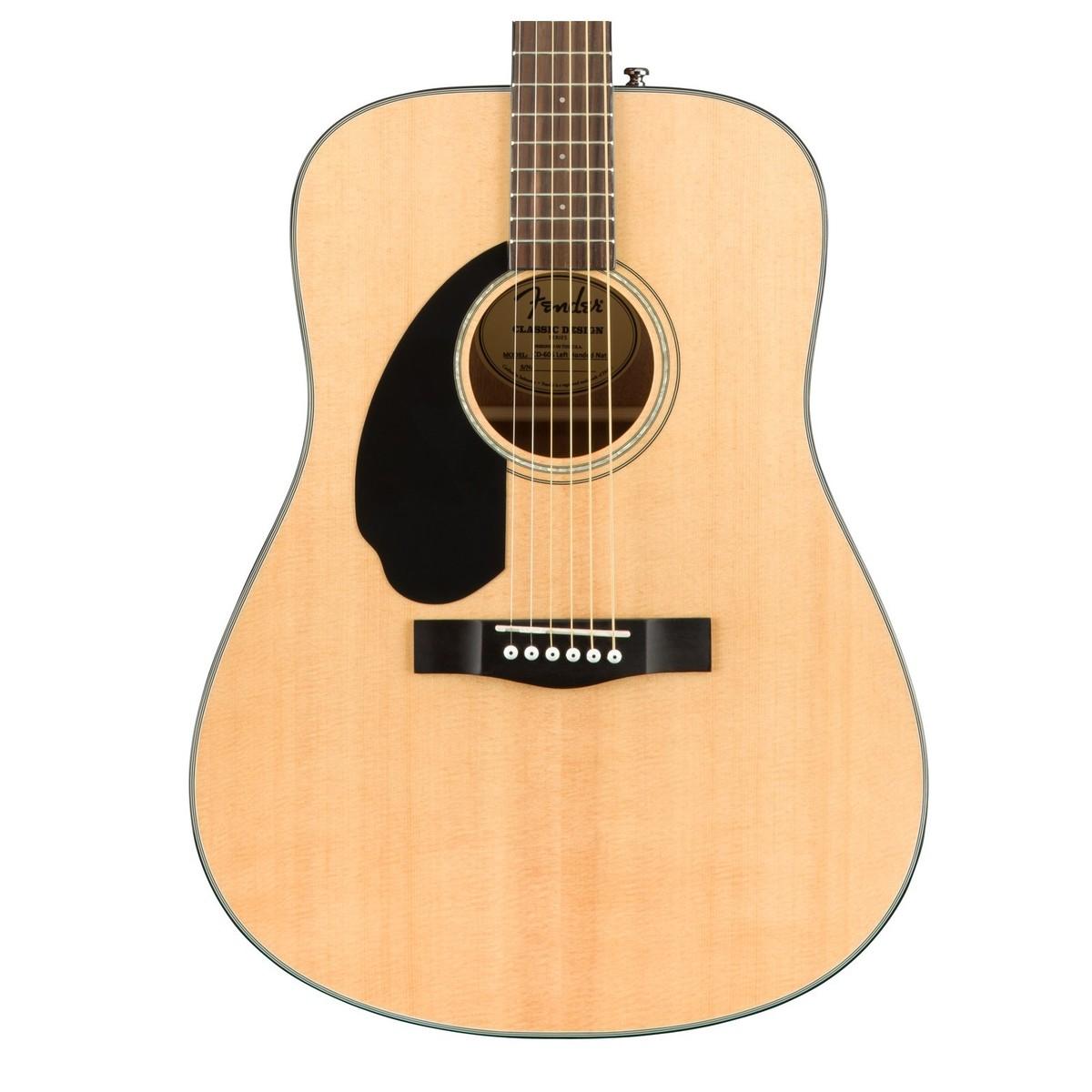 fender cd 60s left handed acoustic guitar natural at. Black Bedroom Furniture Sets. Home Design Ideas