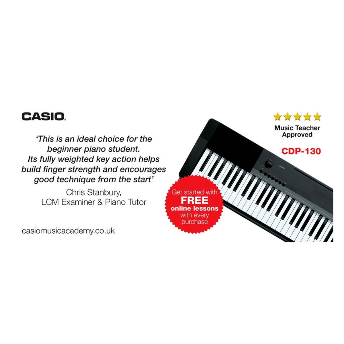 casio cdp 130 compact digital piano box opened at. Black Bedroom Furniture Sets. Home Design Ideas