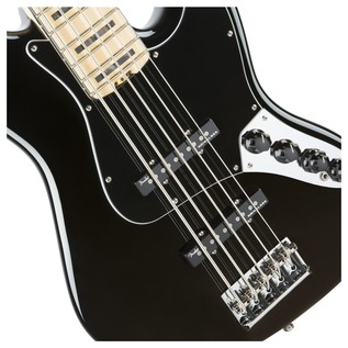 Fender American Elite Jazz Bass V MN, Black Close