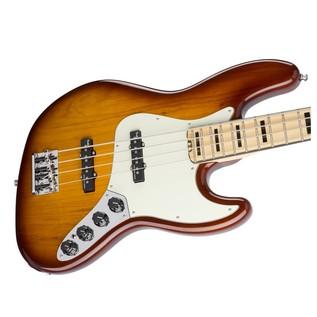 Fender American Elite Jazz Bass, Ash, MN, TBS Left