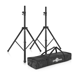 Gear4music Speaker Stands and Carrying Bag