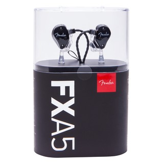 Fender FXA5 Pro In-Ear Monitors, Metallic Black packaging