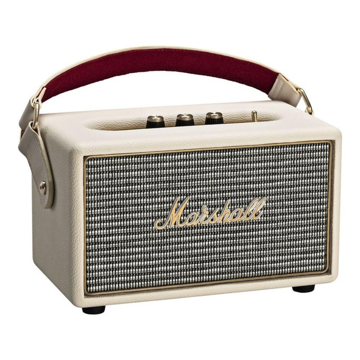 Marshall Bluetooth Speaker Portable: Marshall Kilburn Portable Bluetooth Speaker, White At Gear4music.com