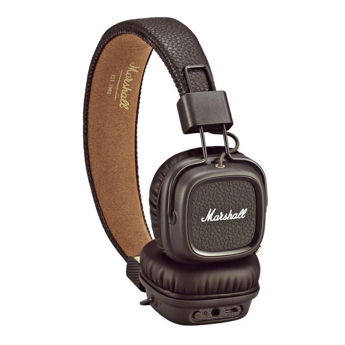 marshall major ii bluetooth headphones brown at. Black Bedroom Furniture Sets. Home Design Ideas