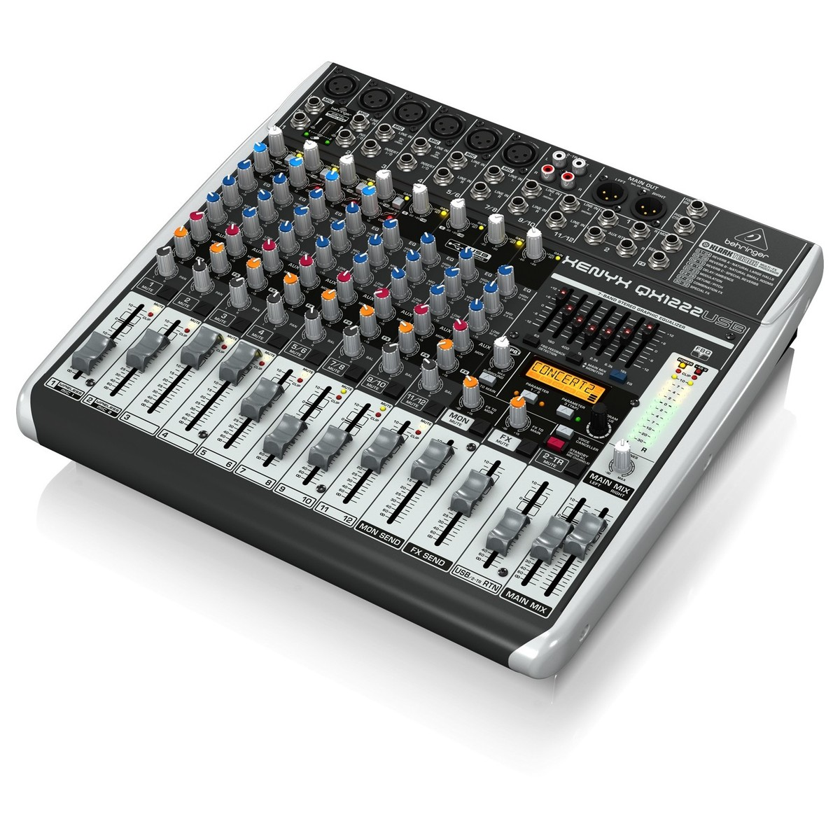 behringer xenyx qx1222usb small format analog mixer box opened at. Black Bedroom Furniture Sets. Home Design Ideas
